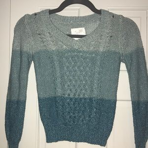 Justice Sparkle V-neck sweater